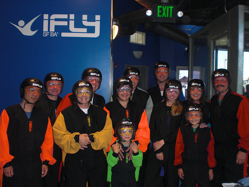 Suited-up at iFly in Union City