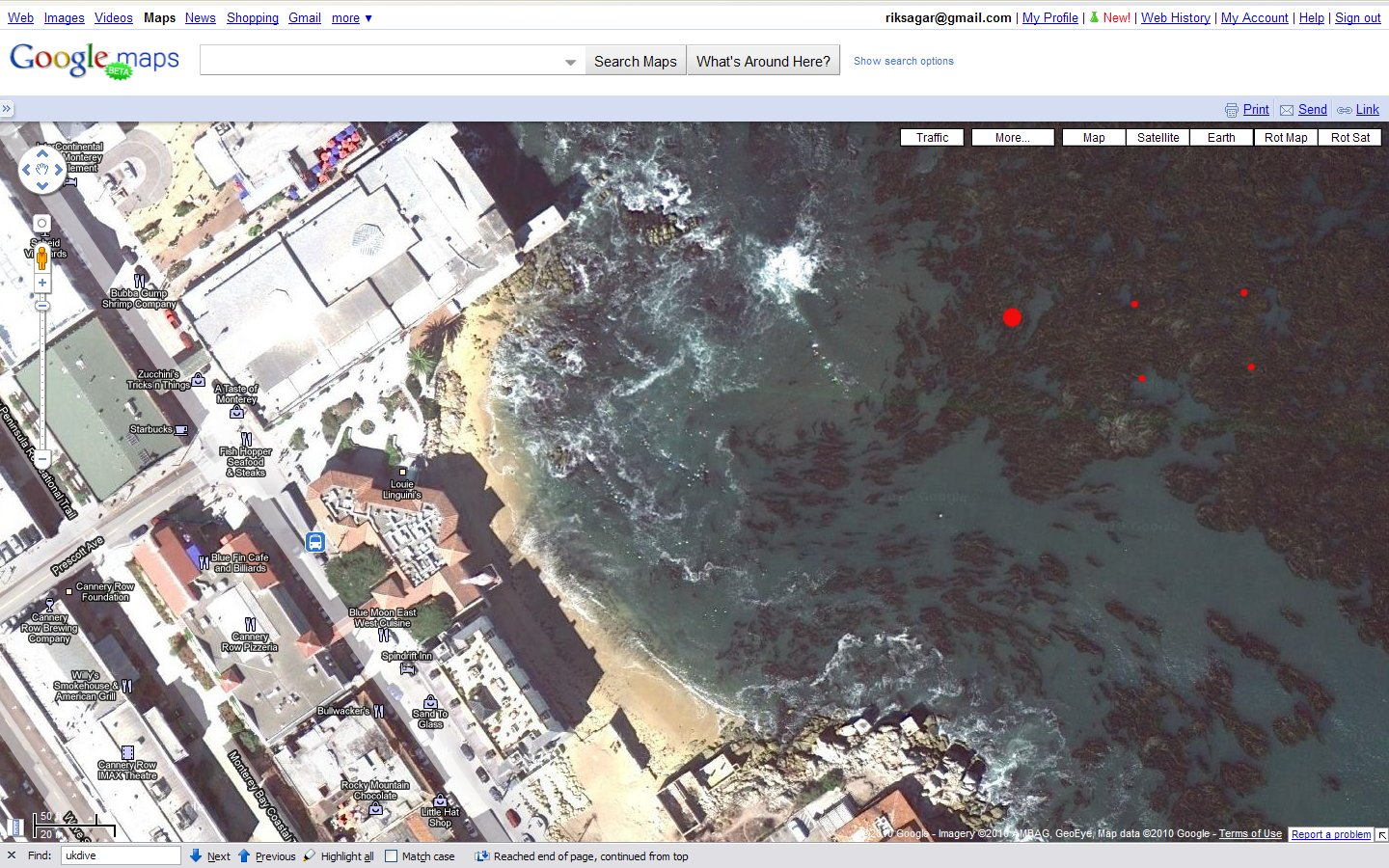 McAbee Beach Satellite View