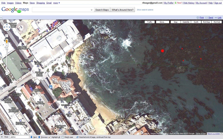 McAbee Beach Satellite View