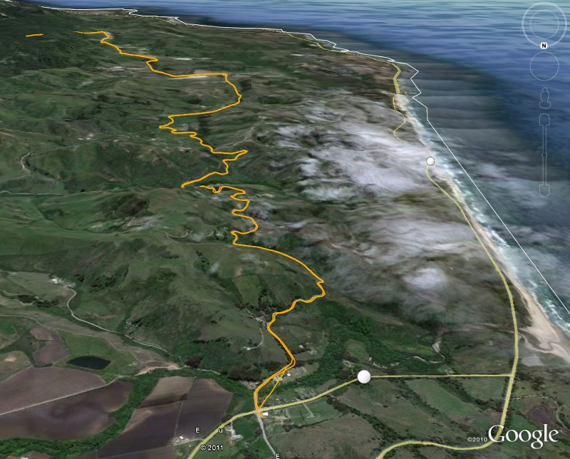 Route View from Google Earth