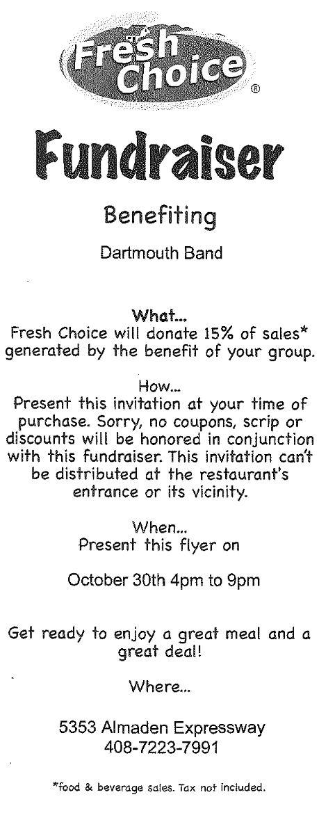 Fresh Choice Flyer, Oct 30 2012