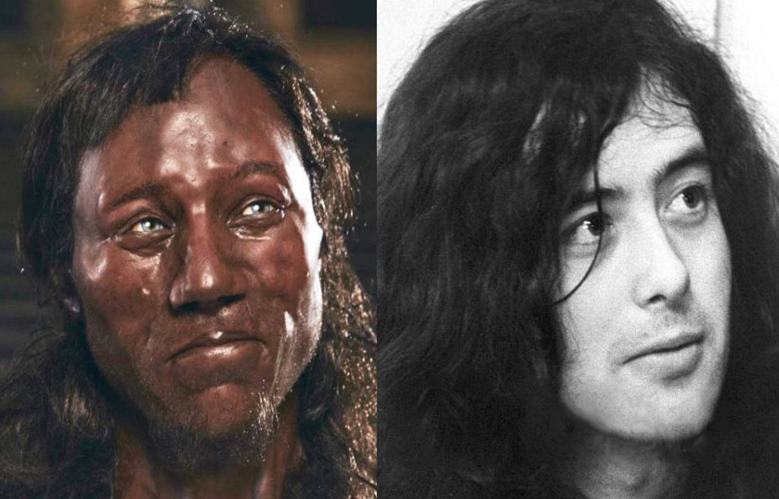 Scientific analysis reveals Cheddar Man is closely related to Jimmy Page.