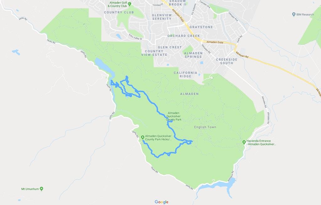 Rik\'s Ramblings: Hiking at Almaden Quicksilver - July 4, 2018