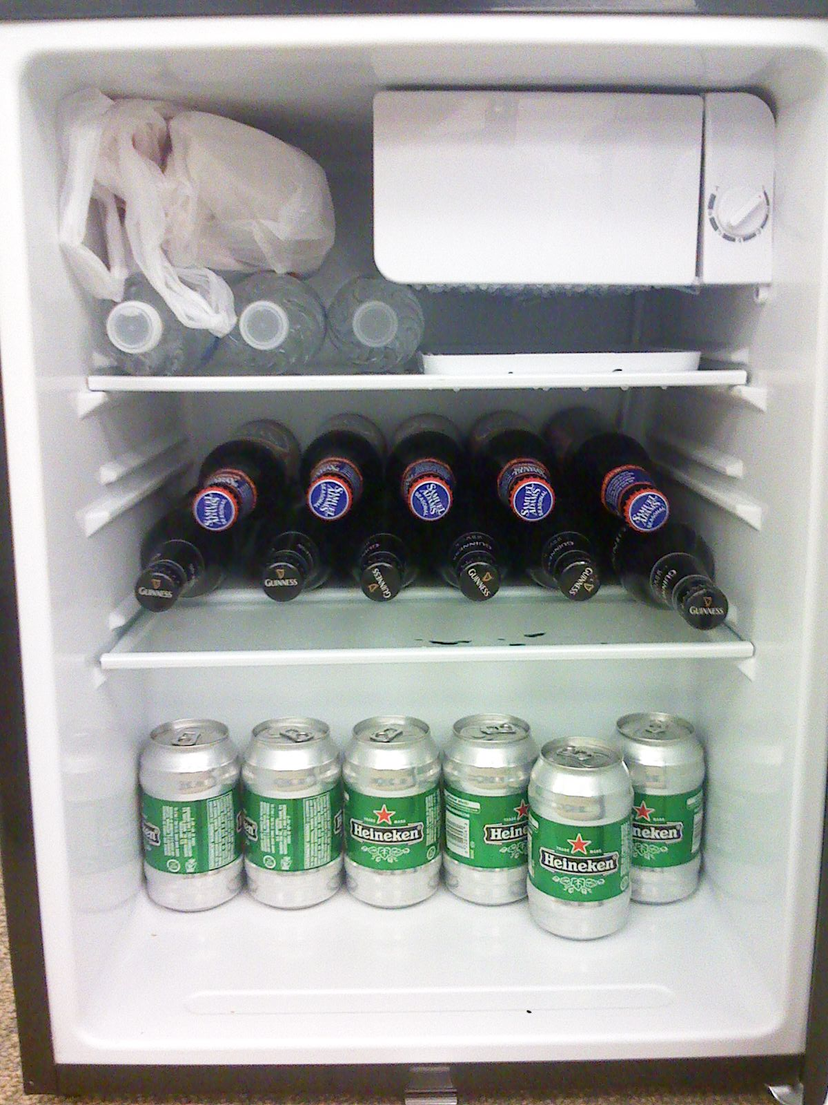 Beer fridge at work